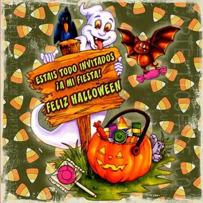 Invitados a mi fiesta de Halloween