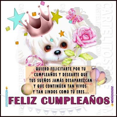 Quiero felicitarte por tu Cumpleaños