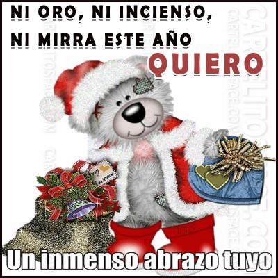 Un inmenso abrazo tuyo en navidad